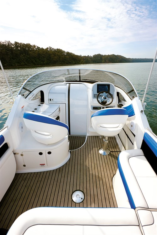 Deck of Whittley 2380 CR boat