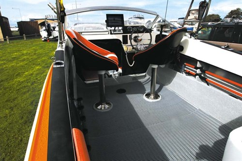 Deck on Haines Hunter V17L
