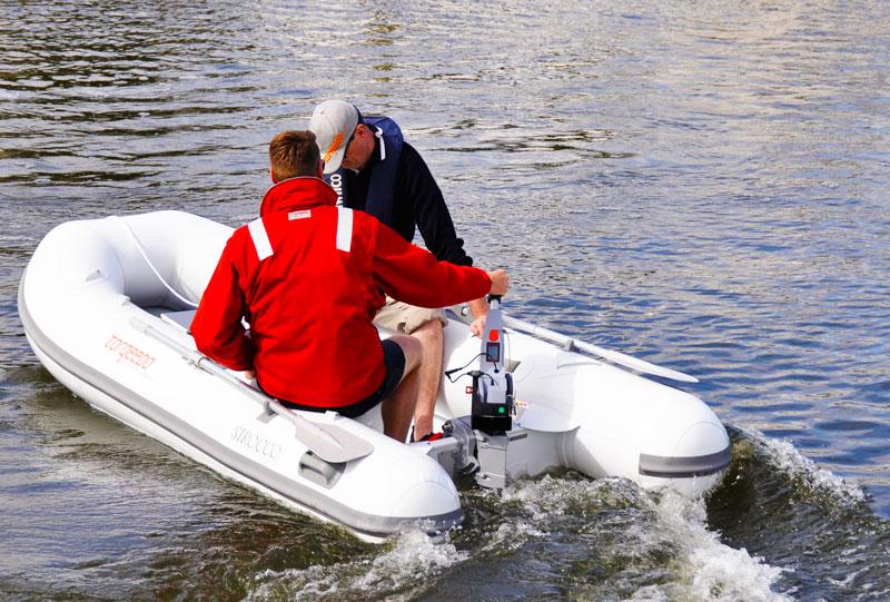 Torqeedo Cruise 4 electric outboardon 3m Sirocco inflatable