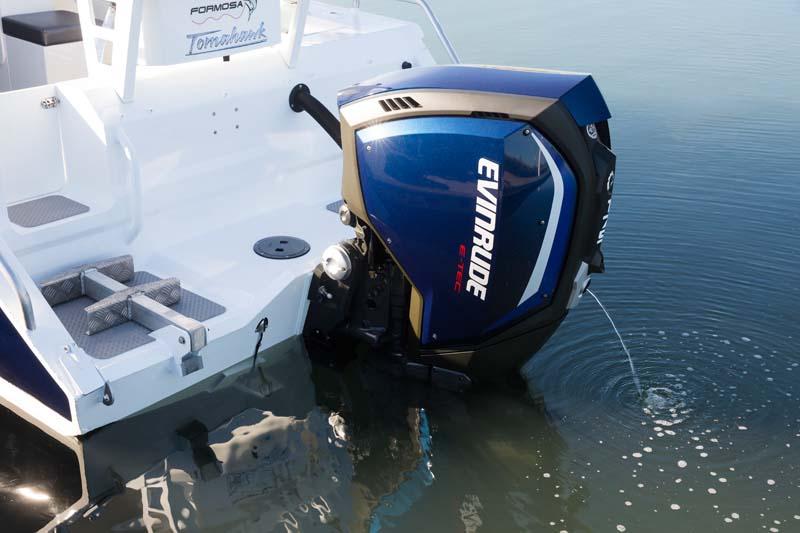 Idle 175hp E-TEC outboard