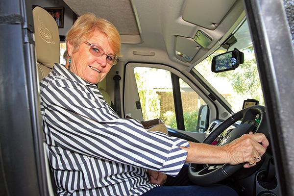 Aunty -Eleanor -sitting -in -a -motorhome