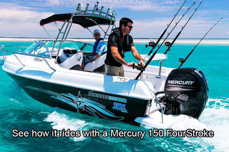 150HP Mercury four-stroke outboard motor