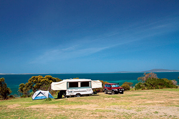 Camper -trailer -setup -at -Port -Lincoln -Tourist -Park -SA