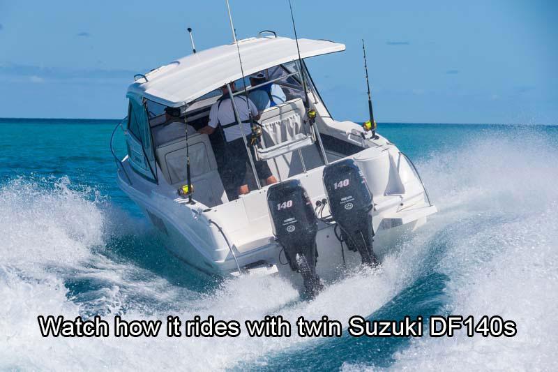 Twin Suzuki DF140A outboard motors