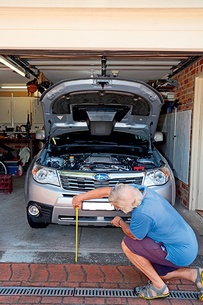 Measuring -the -car -for -lights -installation