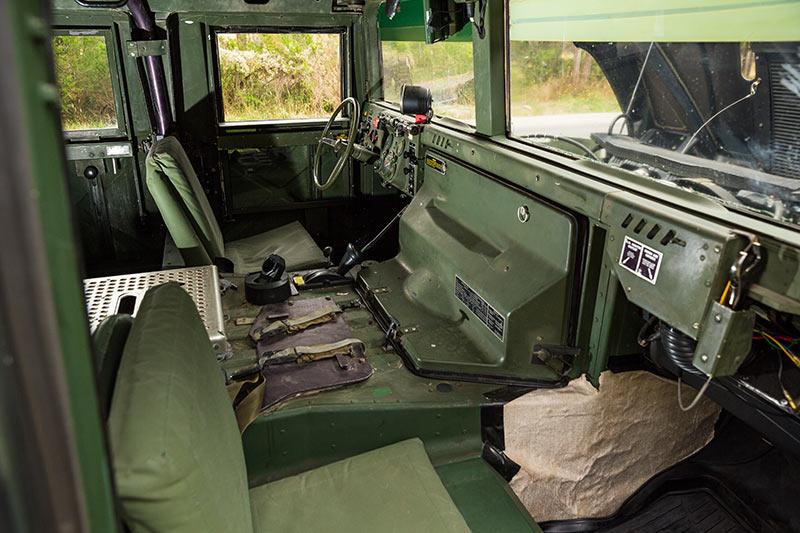 Humvee -interior -front
