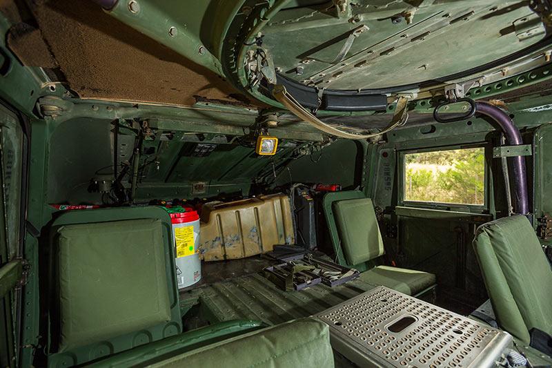Humvee -interior -rear