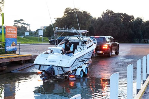 Whittley Sea Legend SL22 at boat ramp
