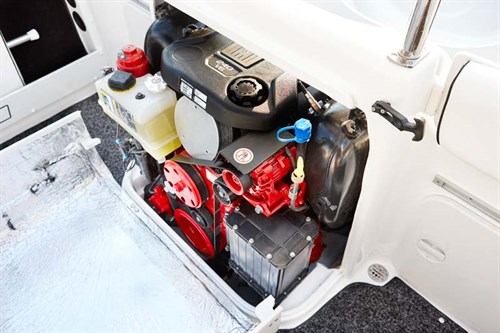 Volvo Penta 240C boat engine interior