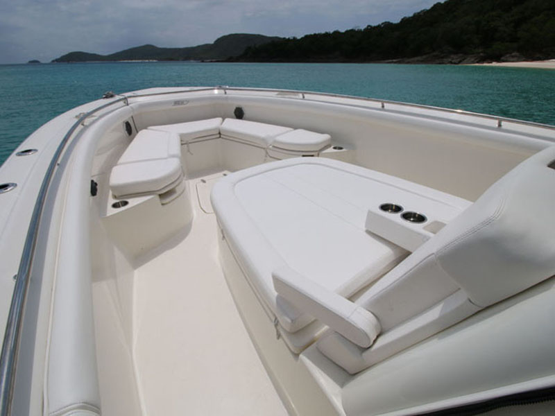 Boston Whaler 350 Outrage sun lounge