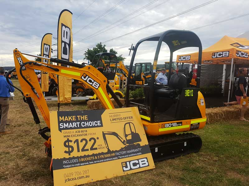 JCB 8018 mini-excavator