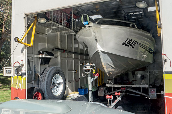 A-boat -stored -inside -the -customised -Denning -motorhome
