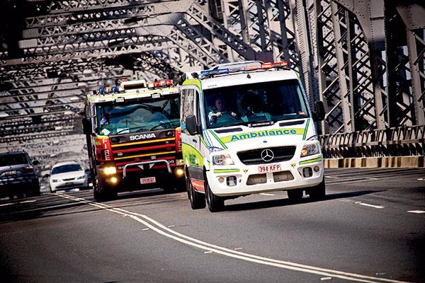 An Ambulance -driving -on -the -Story -Bridge