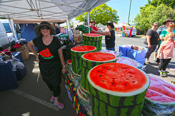 Watermelon -wares -at -the -markets -at -Chinchilla -Melon -Fest