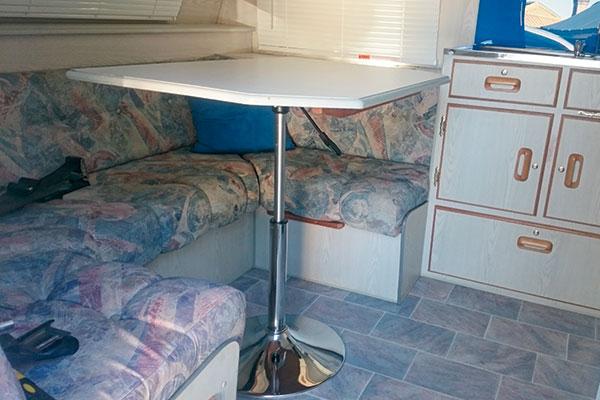 Caravan -lounge -area -featuring -an -Aldi -bar -stool