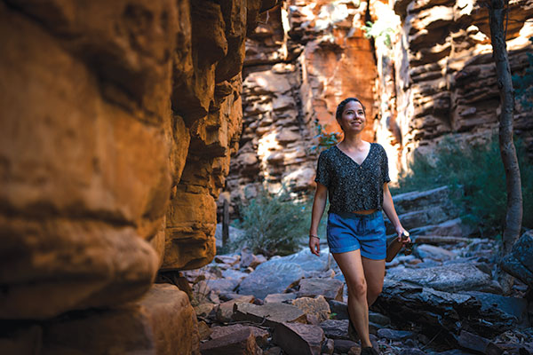 A-woman -walking -at -Alligator -Gorge -SA