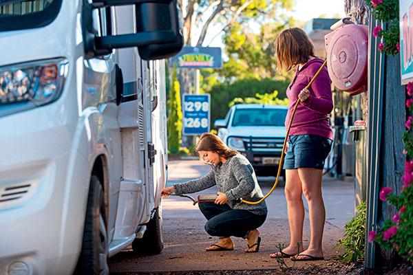 Measuring -tyre -pressure -on -Avida -Birdsville
