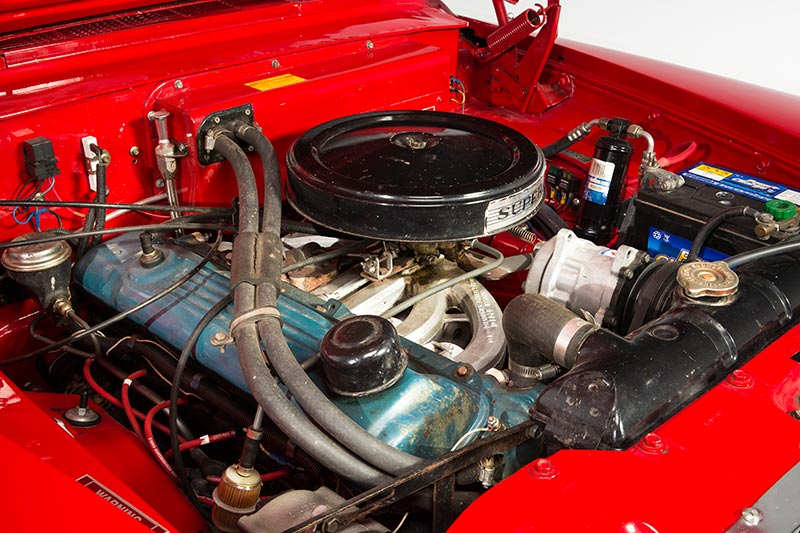 Plymouth -valiant -engine -bay