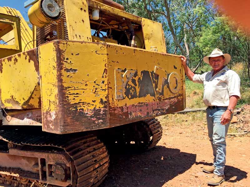 1968 Kato 750G excavator