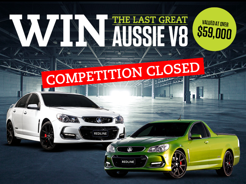 Win Holden competition closed image