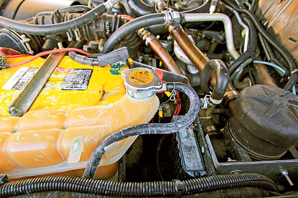 Coolant -under -the -bonnet -of -a -car