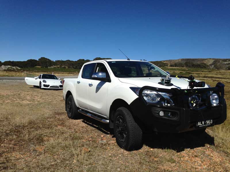 Mazda BT50 with Porsche Carrera 911