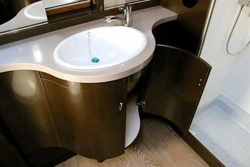 Bathroom -in -caravan