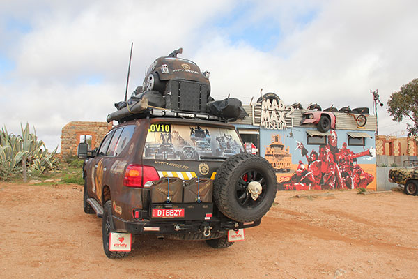 A-Variety -Club -Bash -entrant -(Mad -Max )-outside -the -Mad -Max -Museum