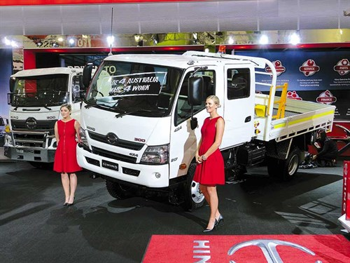 The -Hino -4x 4-300-series -was -recently -unveiled -at -the -Brisbane -Truck -Show