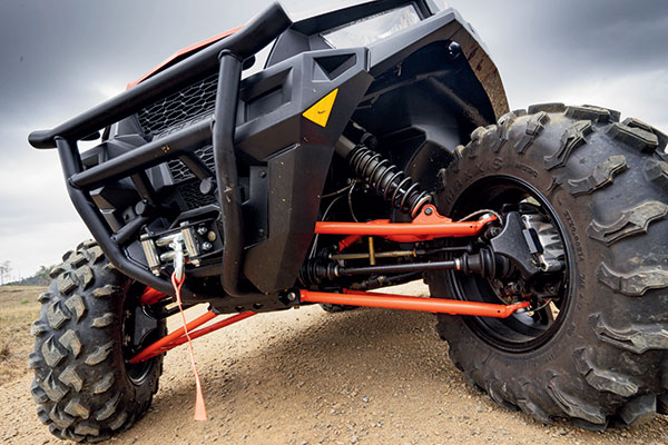 The General MLP UTV's shock absorbers