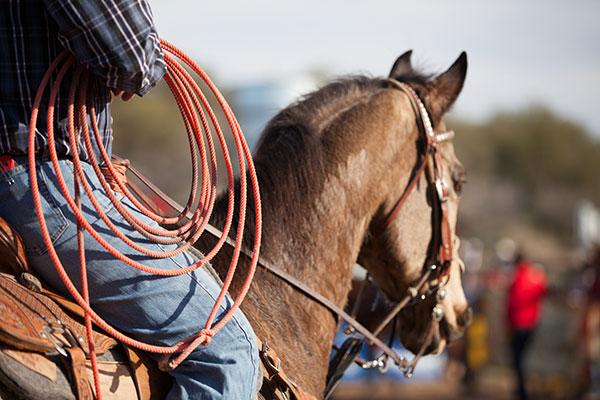 A-man -riding -a -horse