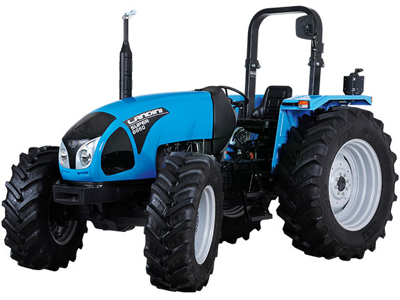 The new Landini Super 8860 utility tractor front on