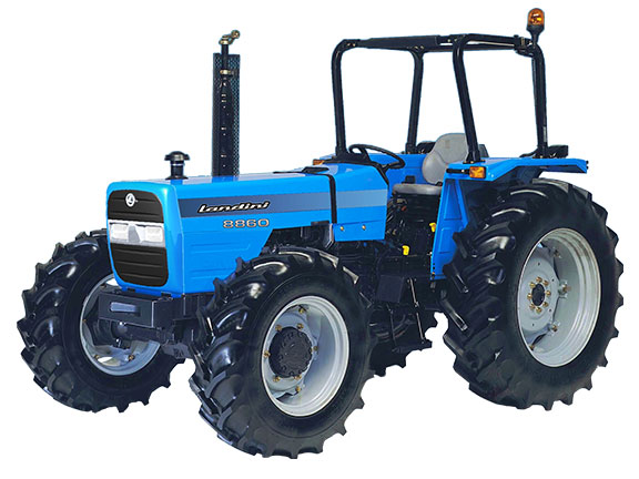 The old Landini Super 8860 utility tractor front on