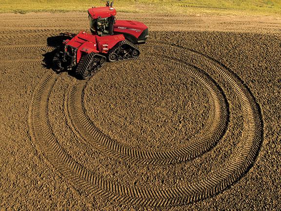 The Steiger CVT working a field