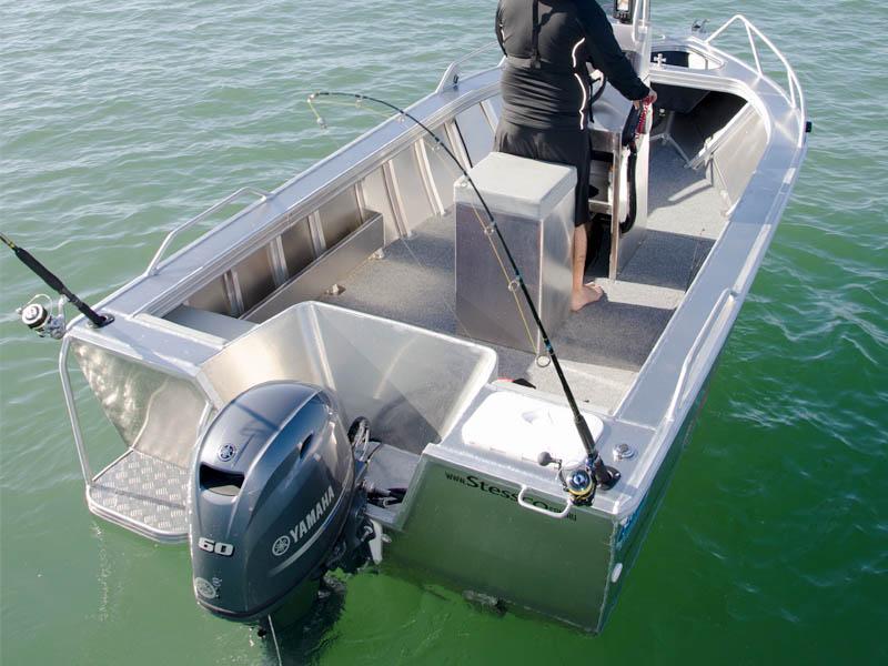 Stessco Fish Hunter 459 Rear Yamaha F60 Four Stroke