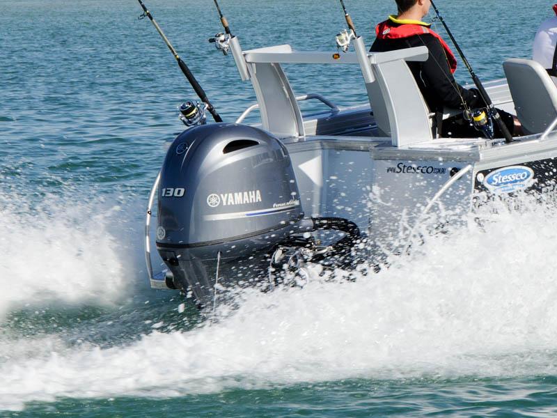 Yamaha F130 Four Stroke Stessco Gulf Runner 550