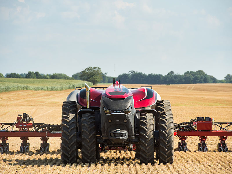 The Case IH ACV driving through a field