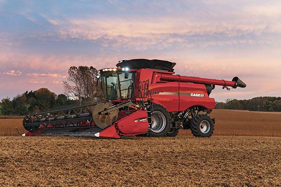 A Case IH 7140 combine harvester