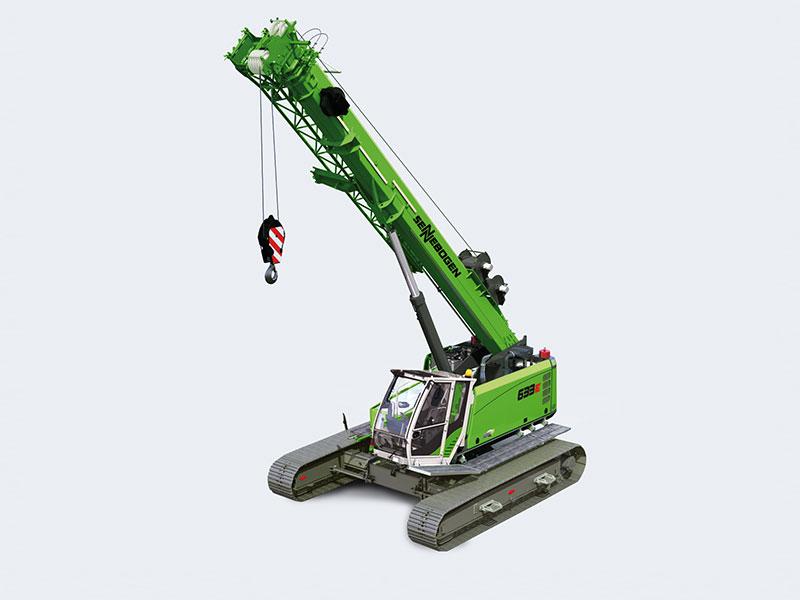 Sennebogen 633 telescopic crawler crane