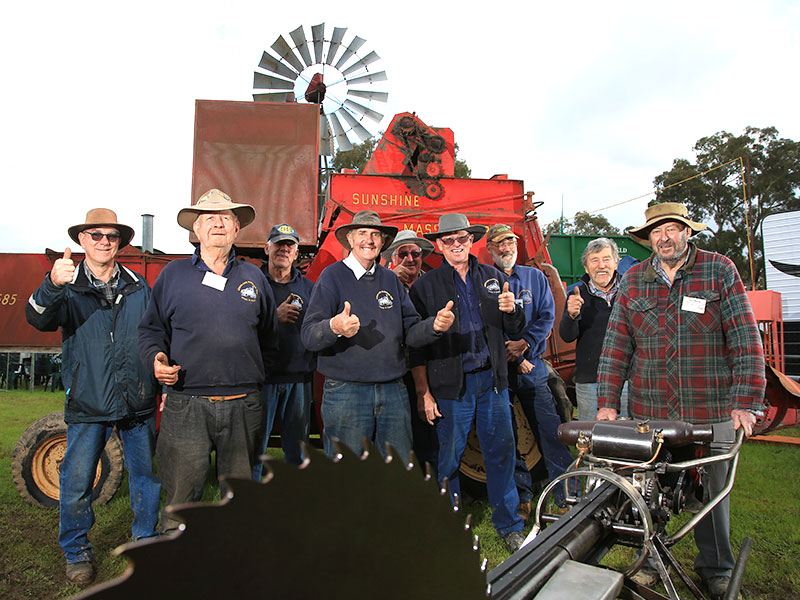 Henty and District Antique Farm Machinery Club members