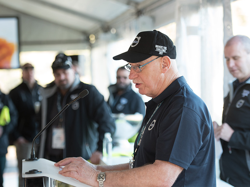Volvo Group Australia senior driver trainer Paul Munro outlines strict rules for the Mt Cotton fuel challenge