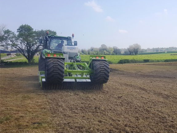 The Actus pasture rejuvenator working a field