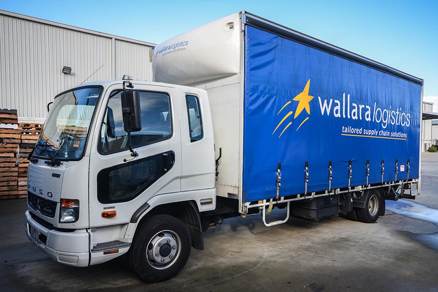 Wallara's 10-tonne Fuso tautliner