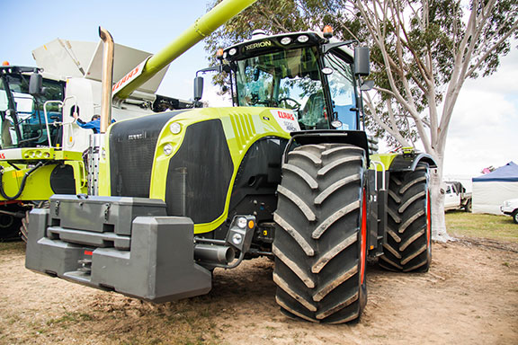 The Claas Xerion 5000 tractor front on