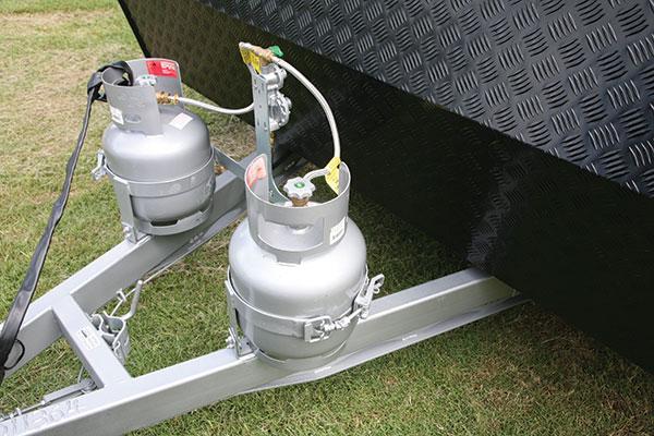 LP-gas -system -on -a -caravan
