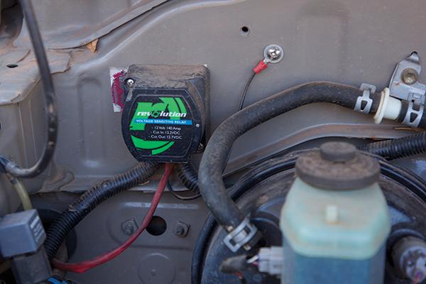 Auxiliary -battery -voltage -sensitive -relay -under -bonnet
