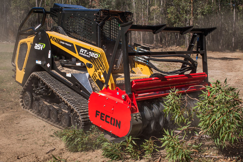 ASV-RT120-compact -loader -and -Fecon -Bull -Hog -mulcher