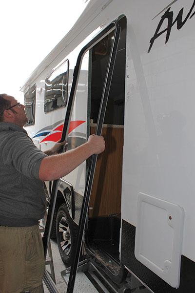 The -old -caravan -door -frame -removed