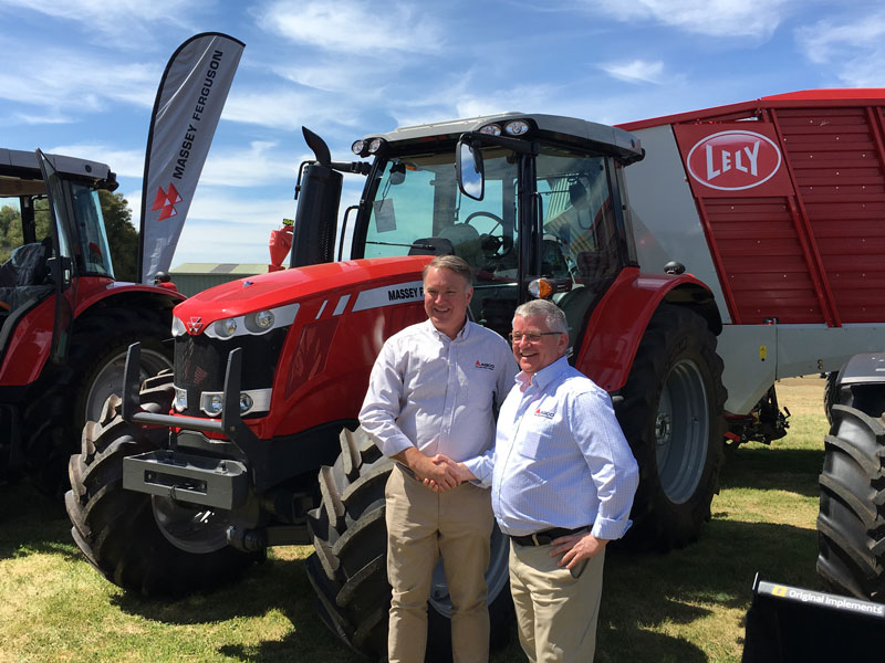 Warwick McCormick of AGCO and Mark Smyth of Lely