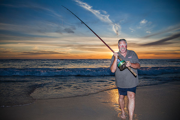 Man -fishing -at -the -beach